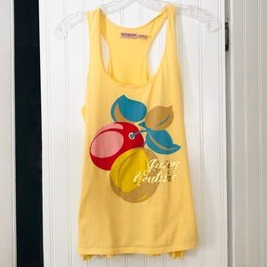 Juicy Couture Yellow Cherry Graphic Tank Top